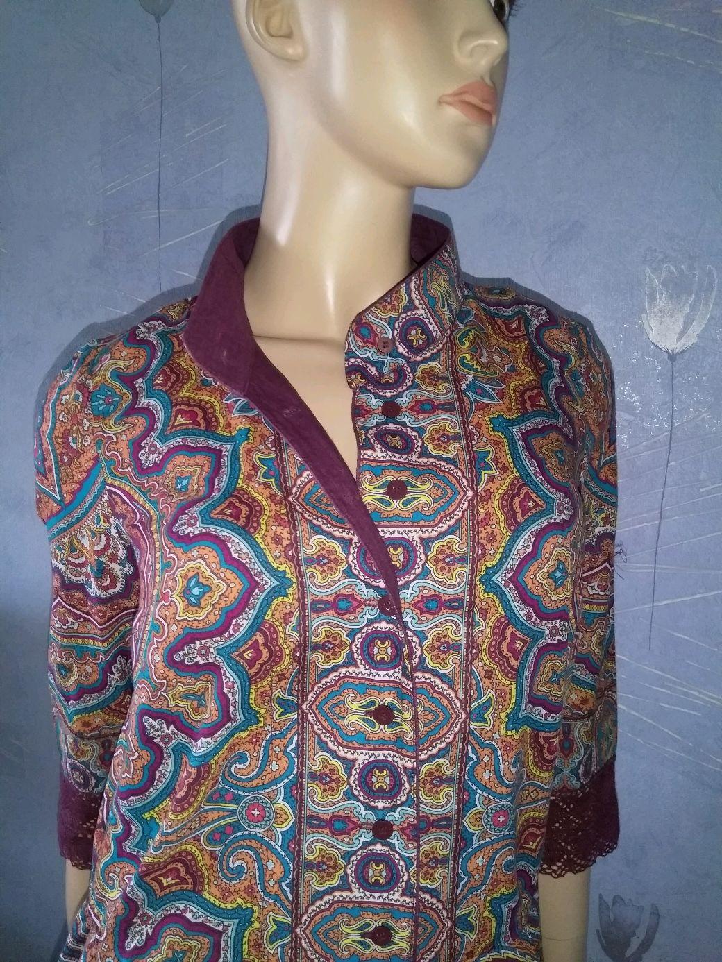 Dress pavlogoradsky scarves 'Eastern journey'(cotton), Dresses, Moscow,  Фото №1