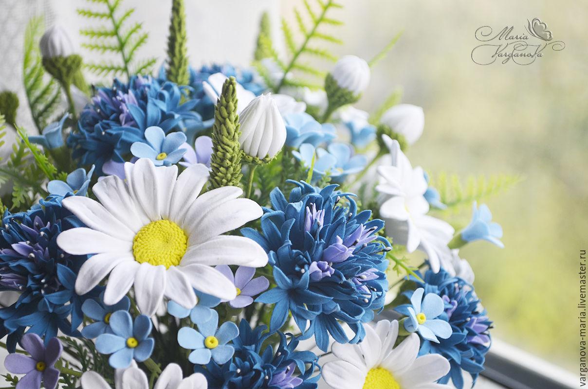Букетик полевых цветов из японской полимерной глины Deco, Букеты, Жуковский,  Фото №1