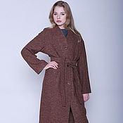 Одежда handmade. Livemaster - original item Coat straight, color brown-mélange, MIDI. Handmade.