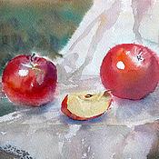 Картины и панно handmade. Livemaster - original item Watercolor. Apples. Handmade.