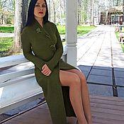 Одежда handmade. Livemaster - original item Dress with the smell of Irish moss cashmere 100% handmade. Handmade.