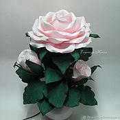 Для дома и интерьера handmade. Livemaster - original item Rose-lamp / Gift bedroom Lighting rose with Bud. Handmade.
