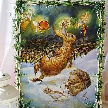 """Картины и панно ручной работы. Ярмарка Мастеров - ручная работа """"Зимние прогулки:-).""""Панно и картины, панно настенное, холст. Handmade."""