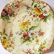 """Посуда ручной работы. Ярмарка Мастеров - ручная работа Тарелка """"Английский фарфор"""". Handmade."""