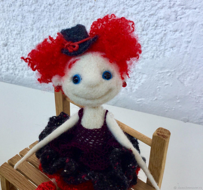 Человечки ручной работы. Ярмарка Мастеров - ручная работа. Купить Войлочная куколка «Марьянка». Handmade. Сухое валяние, танец