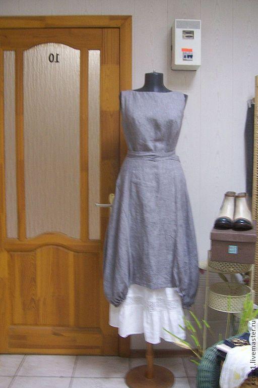 Платья ручной работы. Ярмарка Мастеров - ручная работа. Купить Платье-сарафан Монвизо, 100% лен Loro Piana, стиль бохо. Handmade.