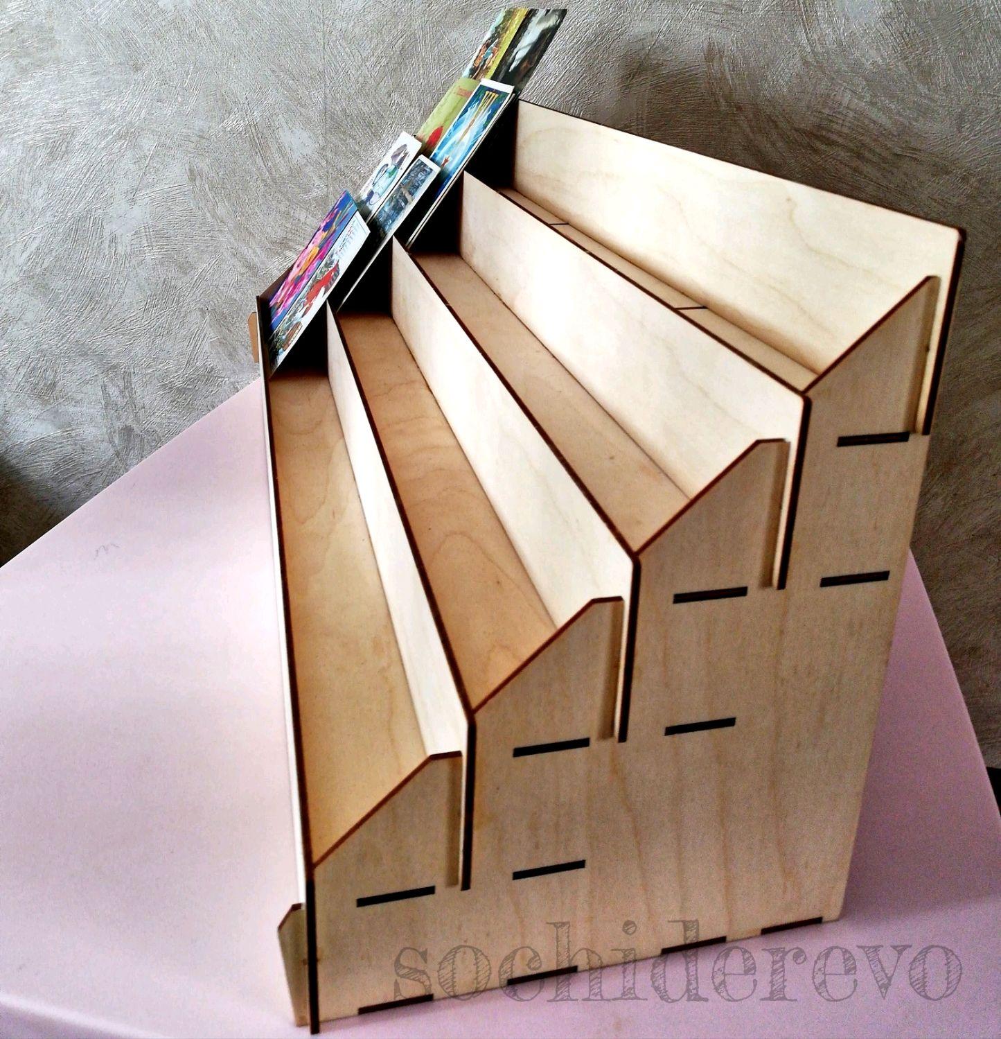 изготовление деревянной стойки под открытки теней