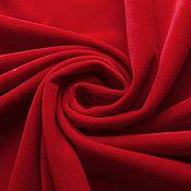 Материалы для творчества ручной работы. Ярмарка Мастеров - ручная работа Бархат хлопковый Рубиновый. Handmade.