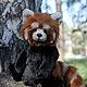 Мишки Тедди ручной работы. Ярмарка Мастеров - ручная работа. Купить Красная панда. Handmade. Рыжий, плюш германия