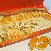 """Косметика ручной работы. Ярмарка Мастеров - ручная работа """"Апельсиновые дольки"""" (сахарный скраб для тела). Handmade."""