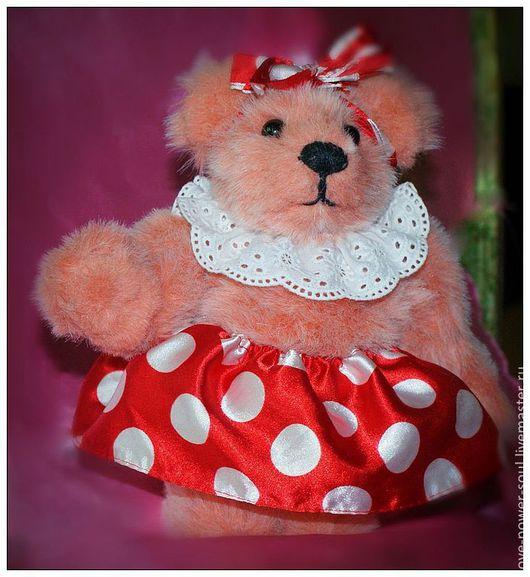Мишки Тедди ручной работы. Ярмарка Мастеров - ручная работа. Купить Тедди Розочка. Handmade. Коралловый, мишка