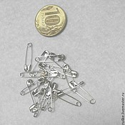 Материалы для творчества handmade. Livemaster - original item Safety pins small 2 cm color Nickel. Handmade.