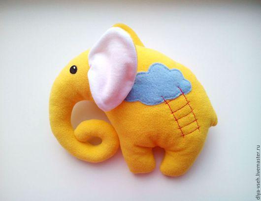 Игрушки животные, ручной работы. Ярмарка Мастеров - ручная работа. Купить Слоники - игрушки подушки из флиса. Handmade. Рыжий