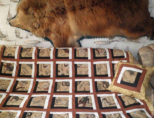 Текстиль, ковры ручной работы. Ярмарка Мастеров - ручная работа. Купить Одеяло  покрывало Rock (23 февраля). Handmade.