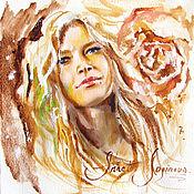 Картины и панно ручной работы. Ярмарка Мастеров - ручная работа Акварельный портрет Vera. Handmade.