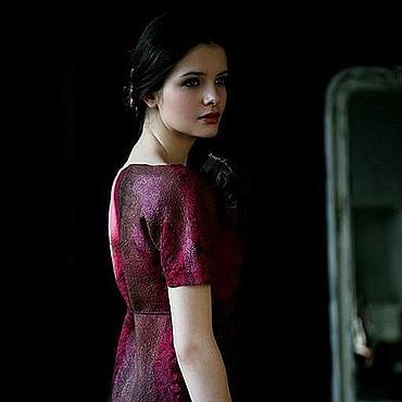 Одежда ручной работы. Ярмарка Мастеров - ручная работа Валяное платье «Cherry wine». Handmade.