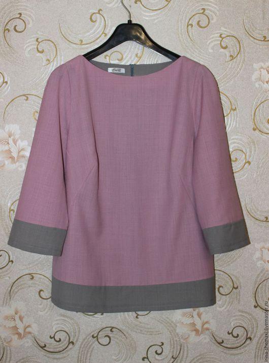 Блузки ручной работы. Ярмарка Мастеров - ручная работа. Купить Блузка комбинированная. Handmade. Блузка, бледно-розовый, блузка из шерсти