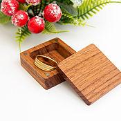 Сувениры и подарки handmade. Livemaster - original item Small wooden ring box. Handmade.