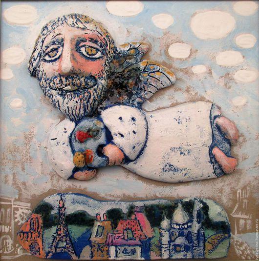 Символизм ручной работы. Ярмарка Мастеров - ручная работа. Купить Ангел-художник. Handmade. Комбинированный, Париж