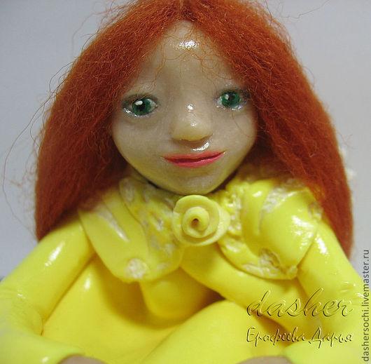 """Статуэтки ручной работы. Ярмарка Мастеров - ручная работа. Купить Фигурка """"Ангел"""" для Елены. Handmade. Фигурка, желтый"""