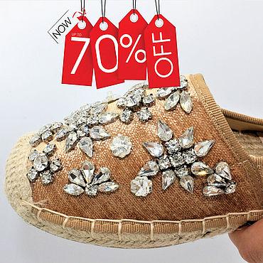 Обувь ручной работы. Ярмарка Мастеров - ручная работа Эспадрильи: -70% 35 размер эспадрильи. Handmade.
