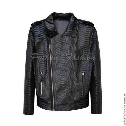 Куртка из питона. Модная женская куртка из питона на молнии. Весенняя куртка ручной работы. Красивая женская куртка из питона. Дизайнерская куртка из питона на заказ. Куртка из питона на весну 2017.