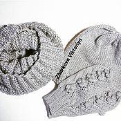 Аксессуары ручной работы. Ярмарка Мастеров - ручная работа шапка, шарф-снуд и варежки. Handmade.