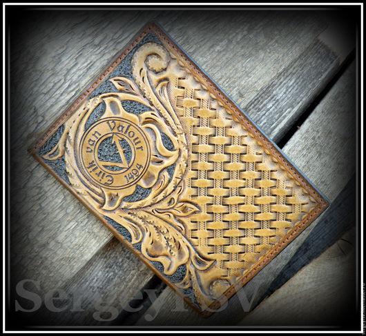 Обложки ручной работы. Ярмарка Мастеров - ручная работа. Купить Обложка на паспорт. Handmade. Натуральная кожа, коричневый