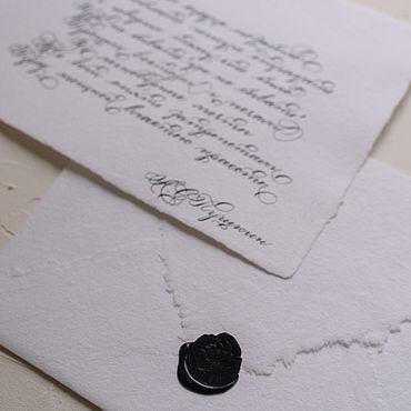 Свадебный салон ручной работы. Ярмарка Мастеров - ручная работа Каллиграфическая открытка. Handmade.