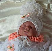 Работы для детей, ручной работы. Ярмарка Мастеров - ручная работа Шапочка для новорожденного Шапочка для  малыша.. Handmade.