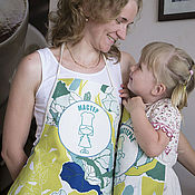 """Для дома и интерьера ручной работы. Ярмарка Мастеров - ручная работа Фартуки для мамы и дочки """"Капуста"""". Handmade."""