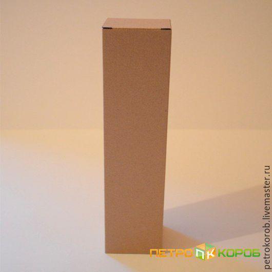 Упаковка ручной работы. Ярмарка Мастеров - ручная работа. Купить Самосборная коробка 037 Размер: 8х5х17,7. Handmade. Коричневый