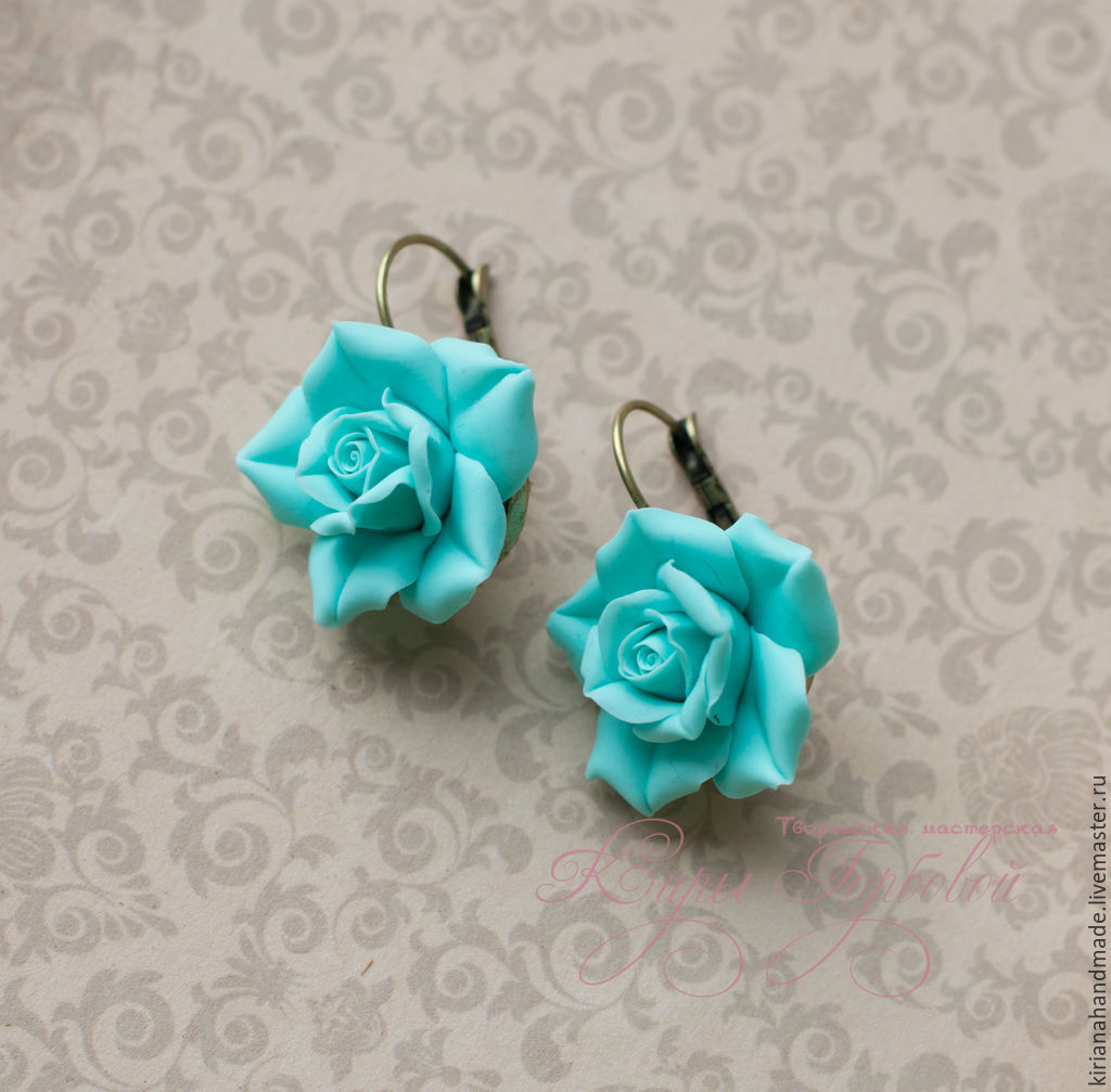 Color rose 'tiffany', Earrings, Vladivostok,  Фото №1