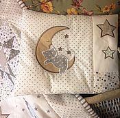 Работы для детей, ручной работы. Ярмарка Мастеров - ручная работа Комплект для мальчика Лоскутное одеяло и Подушка. Handmade.