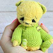 Куклы и игрушки ручной работы. Ярмарка Мастеров - ручная работа Носочек. Котенок тедди. Handmade.