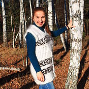 Одежда handmade. Livemaster - original item tunic: Tunic with feather ornament