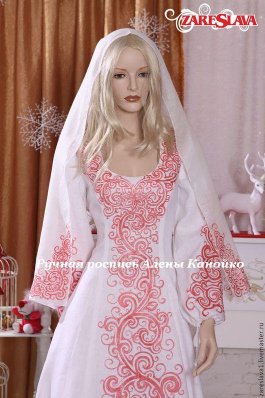Одежда ручной работы. Ярмарка Мастеров - ручная работа. Купить Платье для Инги Егоровой. Handmade. Ярко-красный, свадебное платье