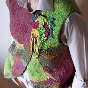 """Одежда ручной работы. Ярмарка Мастеров - ручная работа Жилет войлочный """"Фруктовый салат"""". Handmade."""
