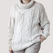 Одежда handmade. Livemaster - original item The voluminous chunky knit sweater with high collar. Handmade.