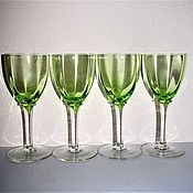 Винтаж handmade. Livemaster - original item 4 glass uranium glass J. Riedel 1900-1920 gg.. Handmade.