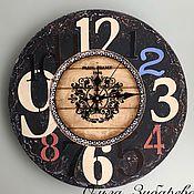Часы классические ручной работы. Ярмарка Мастеров - ручная работа Часы в стиле ЛОФТ.. Handmade.