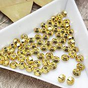 Материалы для творчества handmade. Livemaster - original item 10 PCs. Spacer beads bicone gold 4h2,5 mm (art. 2045-Z). Handmade.