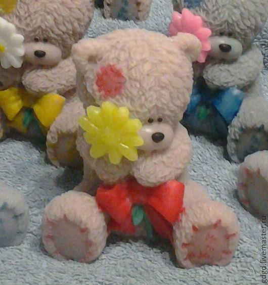 """Мыло ручной работы. Ярмарка Мастеров - ручная работа. Купить Мыло ручной работы """"Мишка Тедди с Цветком"""" (большой). Handmade."""
