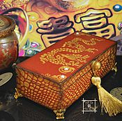 Сувениры и подарки handmade. Livemaster - original item Box money, copernica, the Dragon of Feng Shui. Handmade.