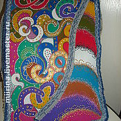 Сумки и аксессуары ручной работы. Ярмарка Мастеров - ручная работа джинсовая сумка-радуга. Handmade.
