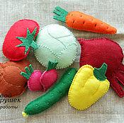 Куклы и игрушки ручной работы. Ярмарка Мастеров - ручная работа Овощи из фетра. Handmade.