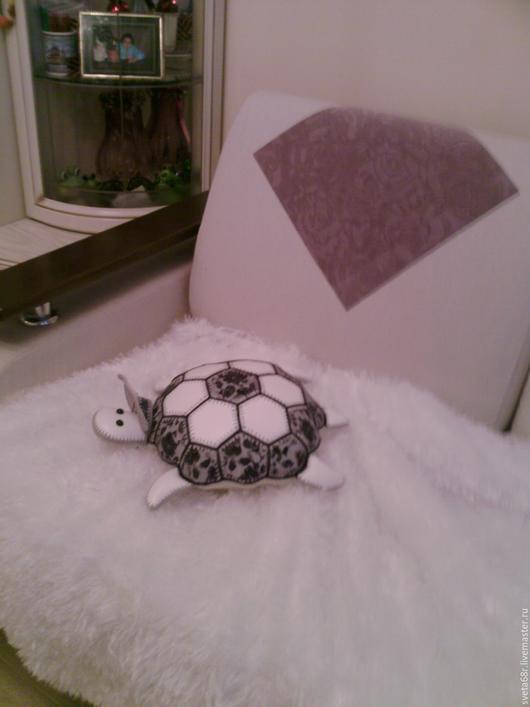 Текстиль, ковры ручной работы. Ярмарка Мастеров - ручная работа. Купить Черепаха-пуф из натуральной кожи. Handmade. Комбинированный