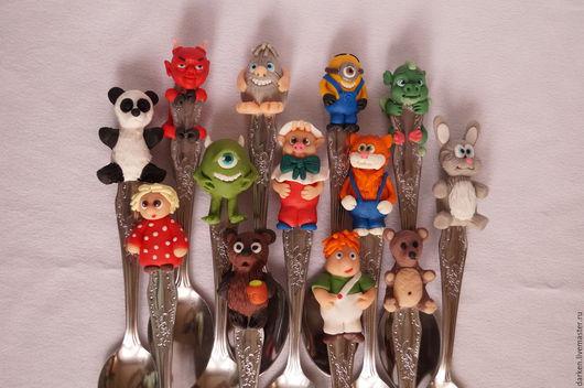Кухня ручной работы. Ярмарка Мастеров - ручная работа. Купить Вкусные ложечки. Handmade. Комбинированный, смешная игрушка, нержавеющая сталь