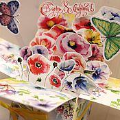 Открытки ручной работы. Ярмарка Мастеров - ручная работа Pop-up открытка- коробочка к 8 марта. Handmade.