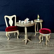 Куклы и игрушки ручной работы. Ярмарка Мастеров - ручная работа Мебель из дерева для куклы в стиле 18 века (Queen Anne style). Handmade.